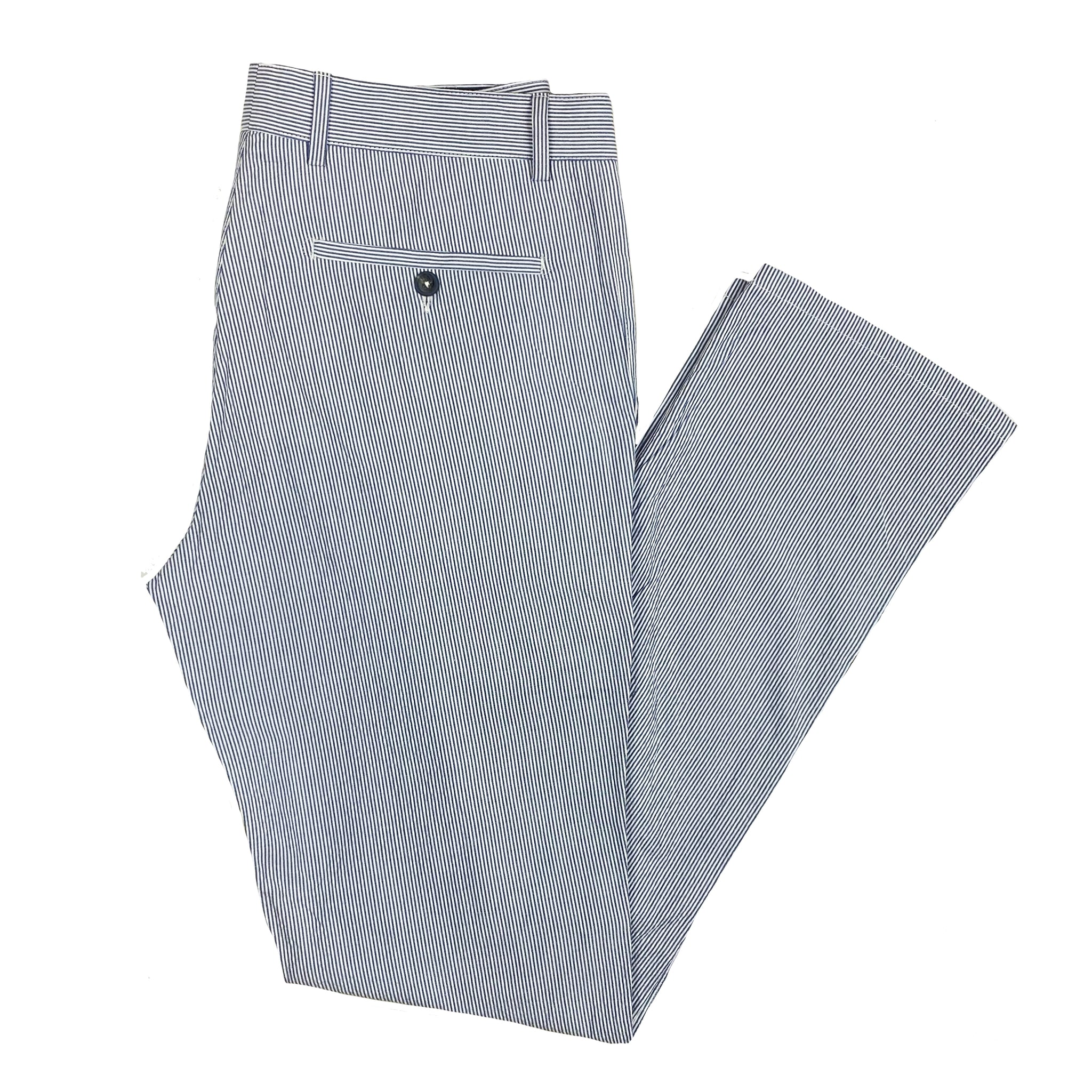Emerson Pant: Patriot Blue Ticking Stripe