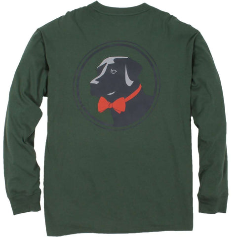Southern Proper - Original Logo Tee: Duck Green Long Sleeve