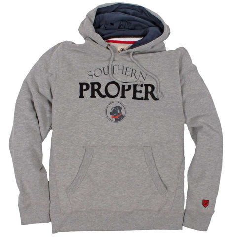 Southern Proper - Logo Hoodie: Heather Grey