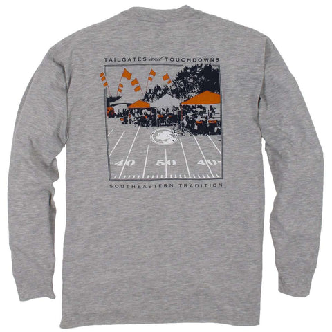 Southern Proper - Tailgates and Touchdowns Tee: Orange Long Sleeve