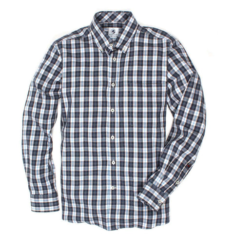 Southern Proper - The Goal Line Plaid: Blue/Grey