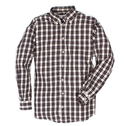 Southern Proper - The Goal Line Plaid: Chestnut