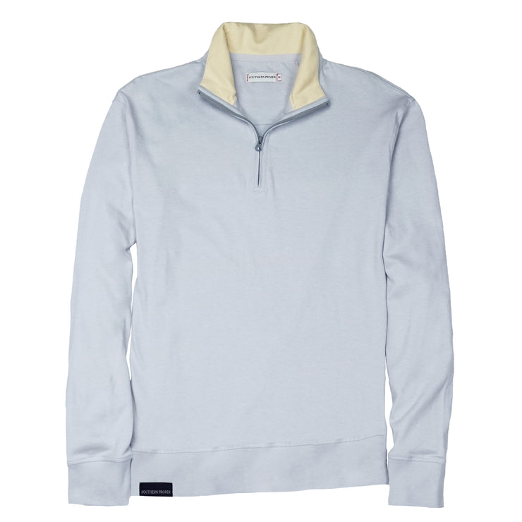 Southern Proper - Gates Quarter Zip: Grey Dawn