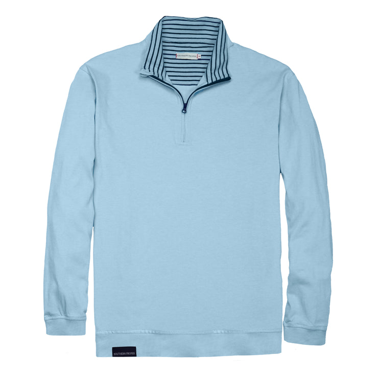 Southern Proper - Gates Quarter Zip: Porch Blue