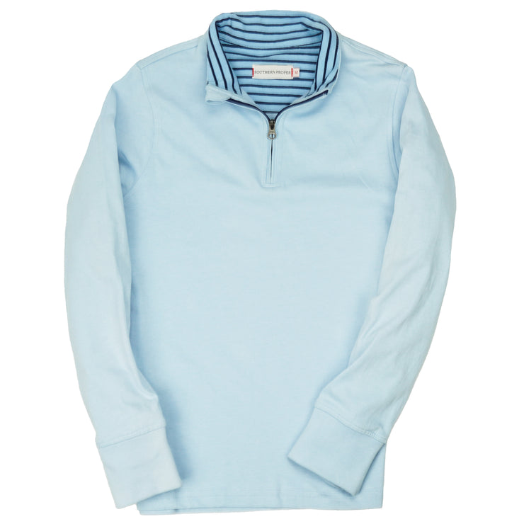 Southern Proper - Boys - Gates Quarter Zip: Porch Blue