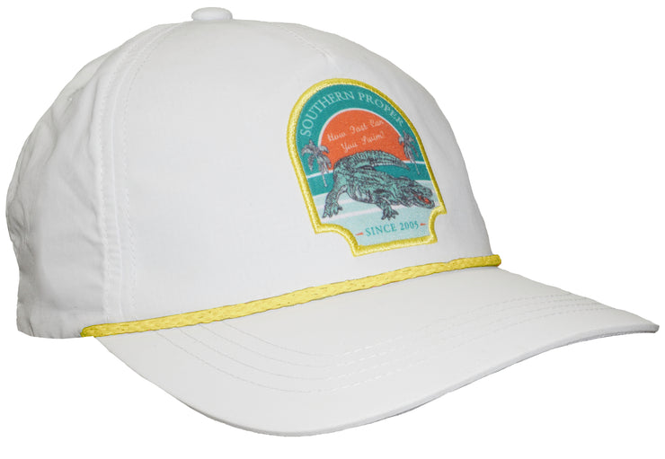 Southern Proper - Gator Five Panel: Porch White