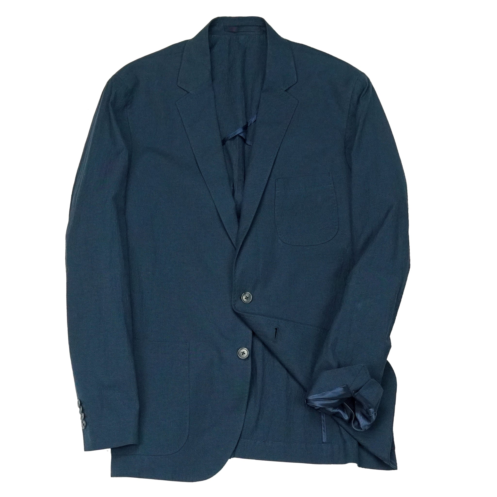 Gentleman's Jacket: Dusty Blue Seersucker