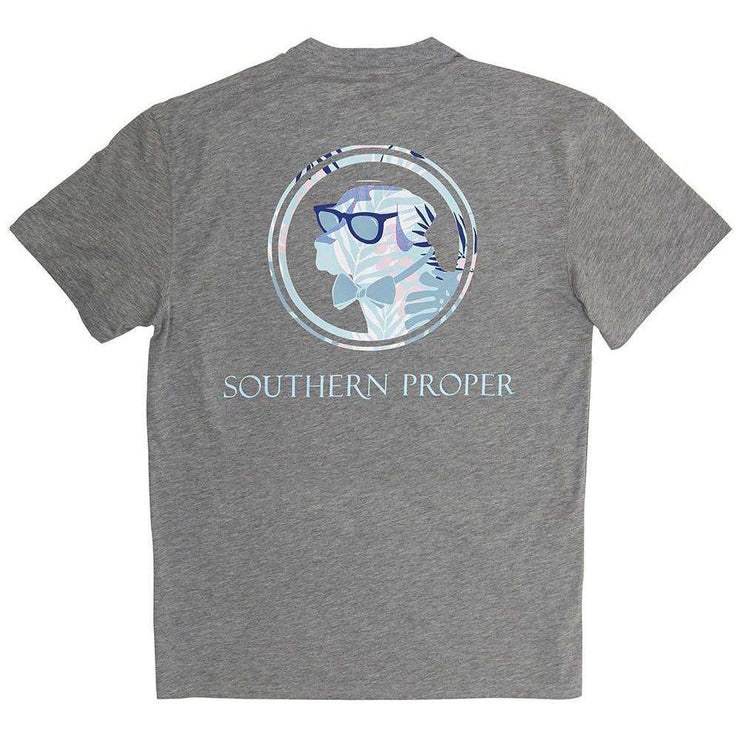 Southern Proper - Palm Lab Tee: Grey