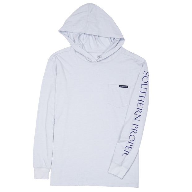 Southern Proper - Hoodie Tee: Heather Grey Dawn