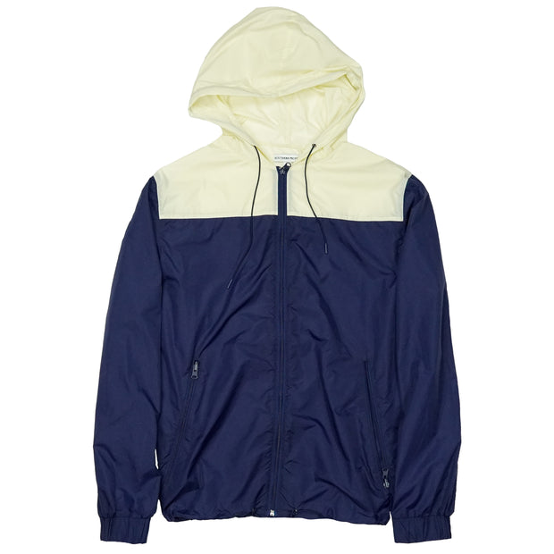Southern Proper - Horizon Windbreaker: Patriot Blue / Cream