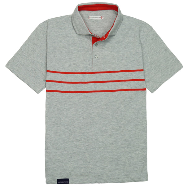 Southern Proper - Lawn Polo: Heather Grey