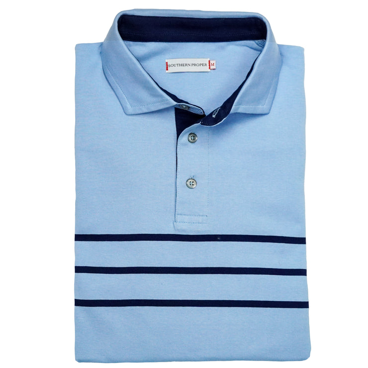 Southern Proper - Lawn Polo: Porch Blue