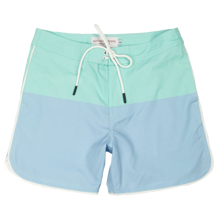 Southern Proper - Boys - Seaside Swim Short: Skyway / Brook Green