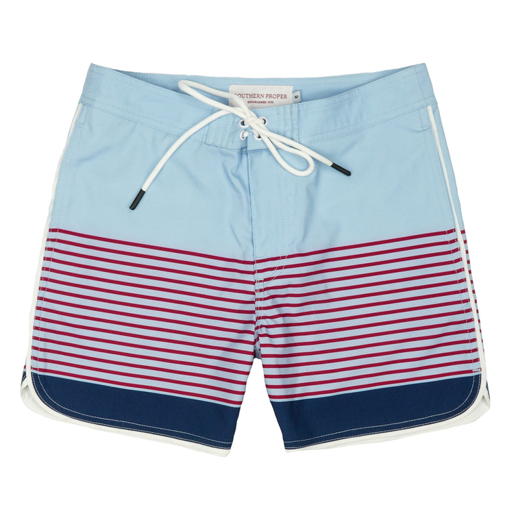 Southern Proper - Boys - Seaside Swim Short: Skyway Stripe