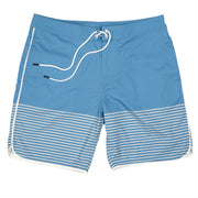 Southern Proper - Seaside Swim Short: Blue Shadow Stripe