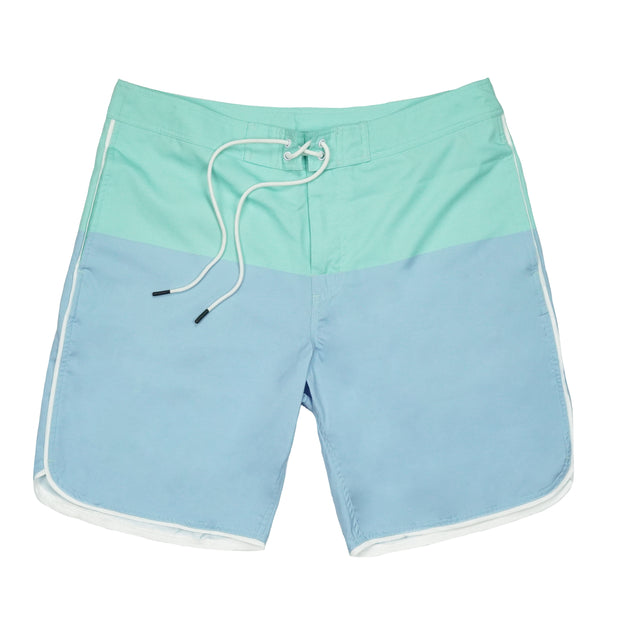 Southern Proper - Seaside Swim Short: Skyway / Brook Green