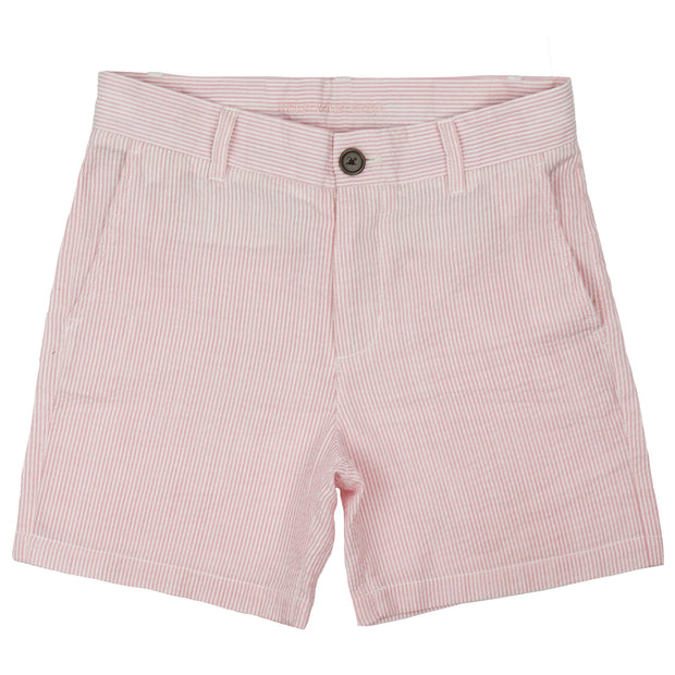Southern Proper - Boys - Society Short: Pink Lady Seersucker
