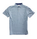 Covington Polo: Patriot Blue / Porch White Stripe