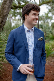 Southern Proper - Gentleman's Jacket: Dusty Blue Seersucker