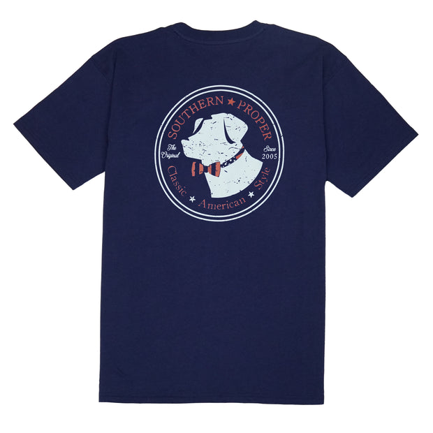 Southern Proper - American Lab Tee: Patriot Blue