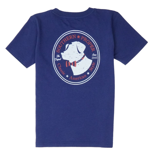 Southern Proper - Boys - American Lab Tee: Patriot Blue