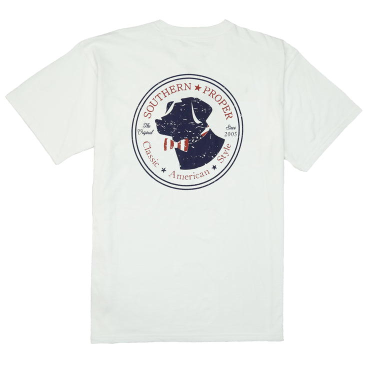 Southern Proper - American Lab Tee: White