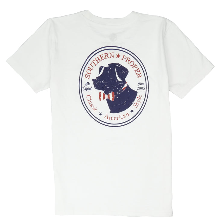 Southern Proper - Boys - American Lab Tee: White