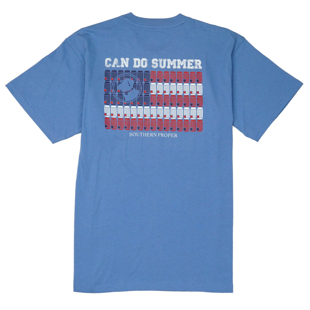 Southern Proper - Can Do Summer Tee: Riviera