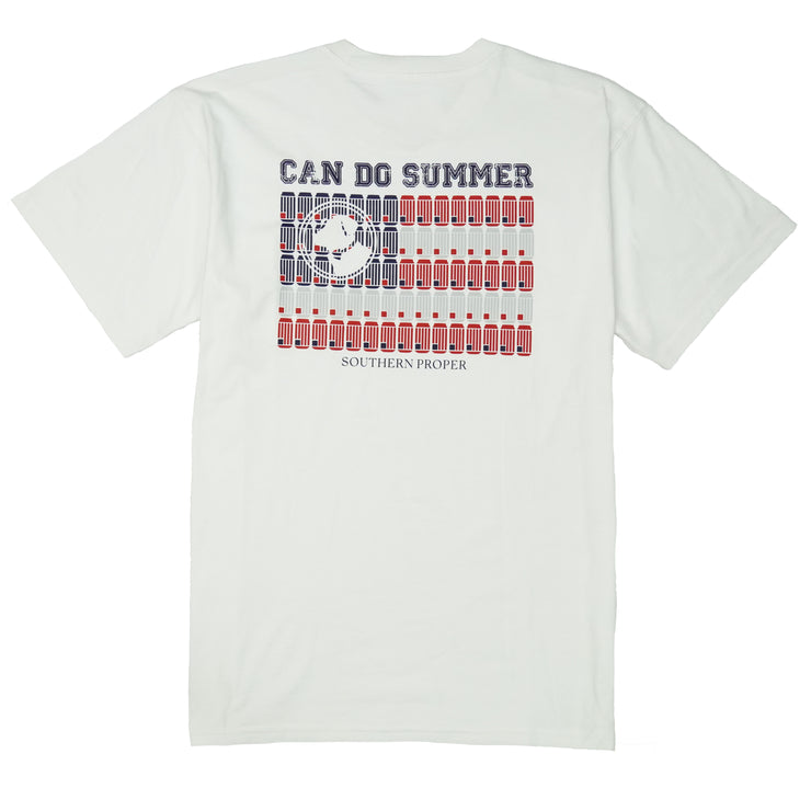 Southern Proper - Can Do Summer Tee: White