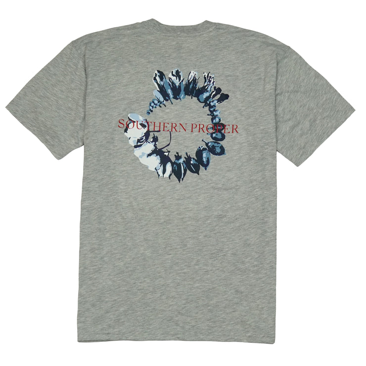 Southern Proper - Cotton Life Tee: Heather Grey