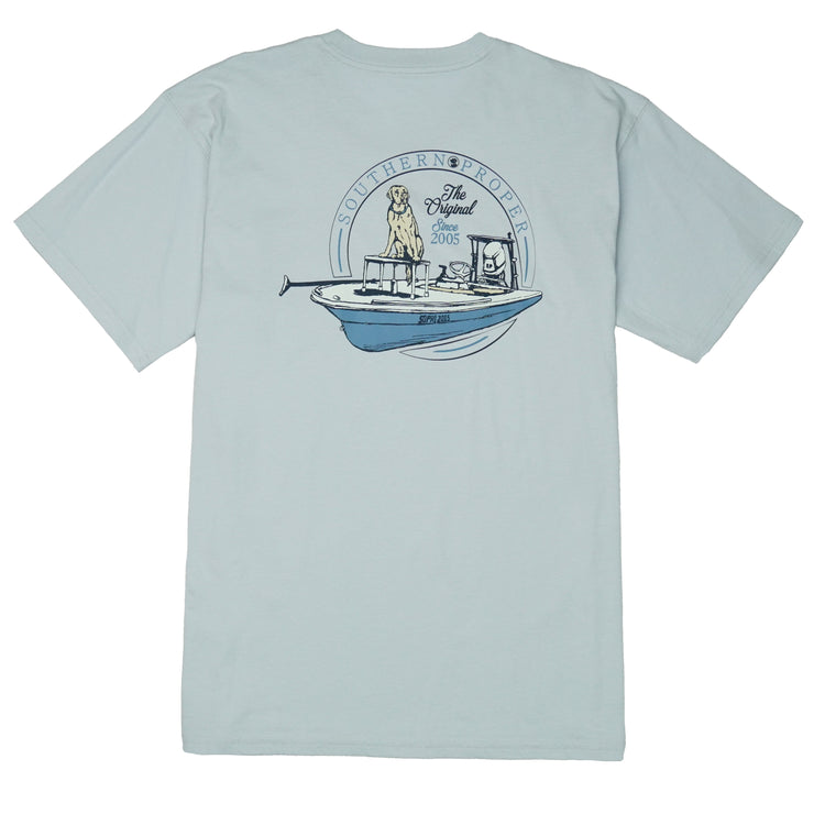 Southern Proper - First Mate Tee: Grey Dawn