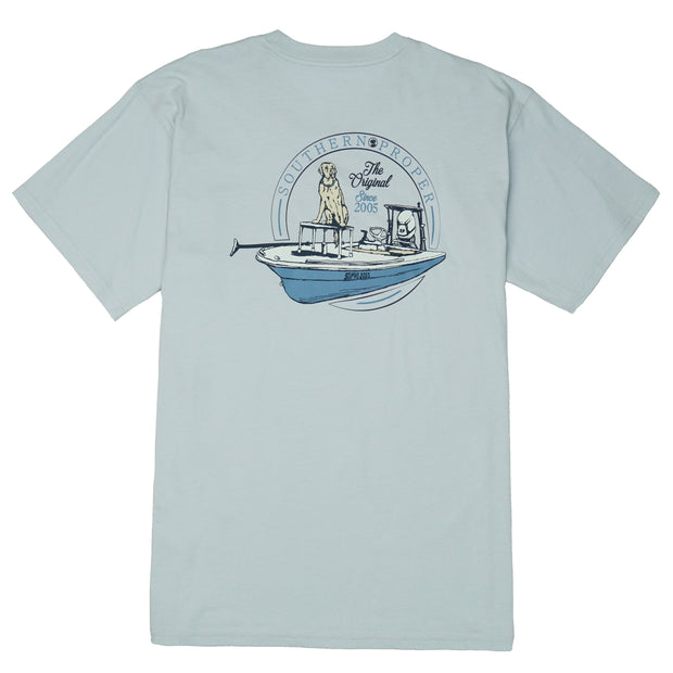 Southern Proper - Boys - First Mate Tee: Grey Dawn