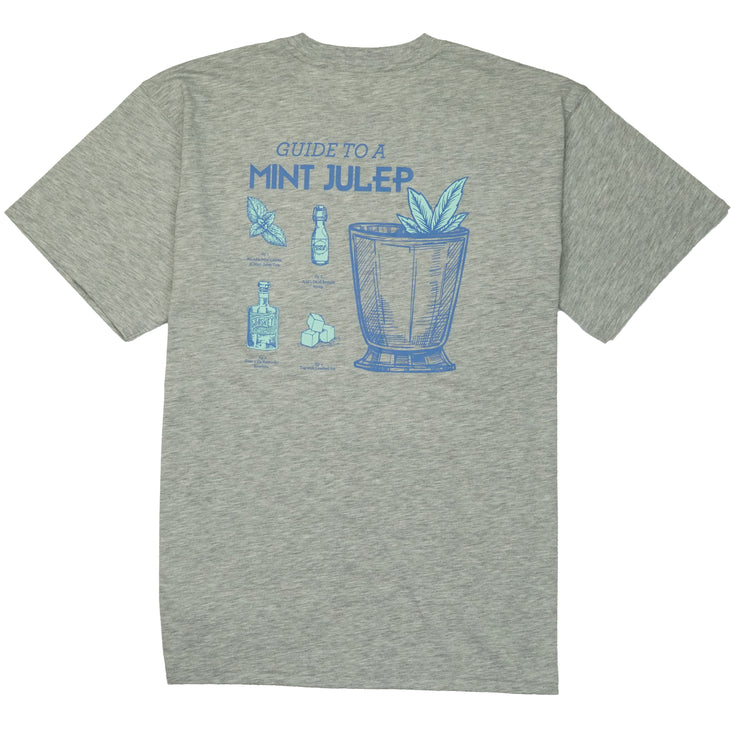 Southern Proper - Guide to a Mint Julep Tee: Heather Grey