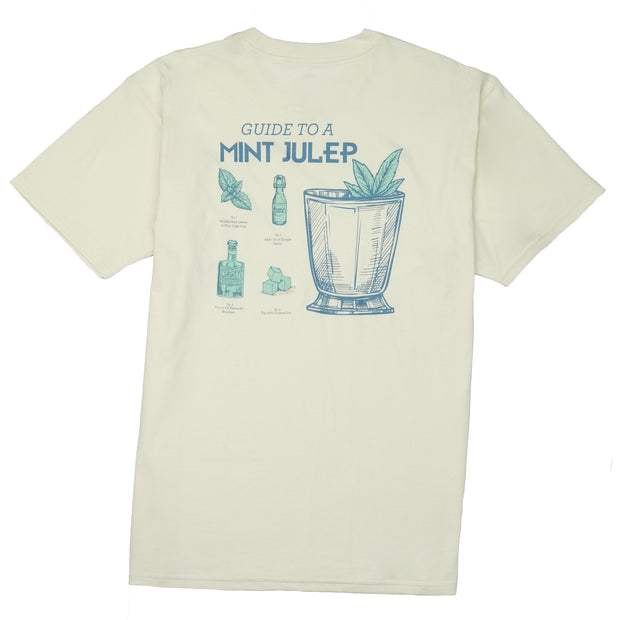 Southern Proper - Guide to a Mint Julep Tee: Papyrus