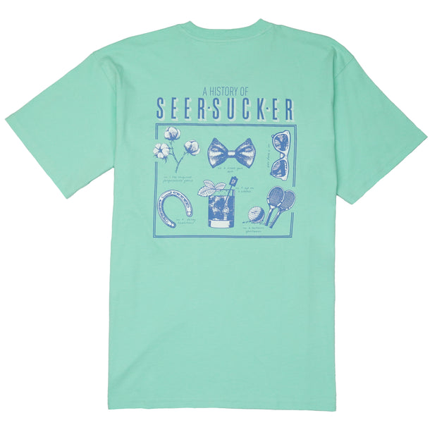 Southern Proper - History of Seersucker Tee: Brook Green