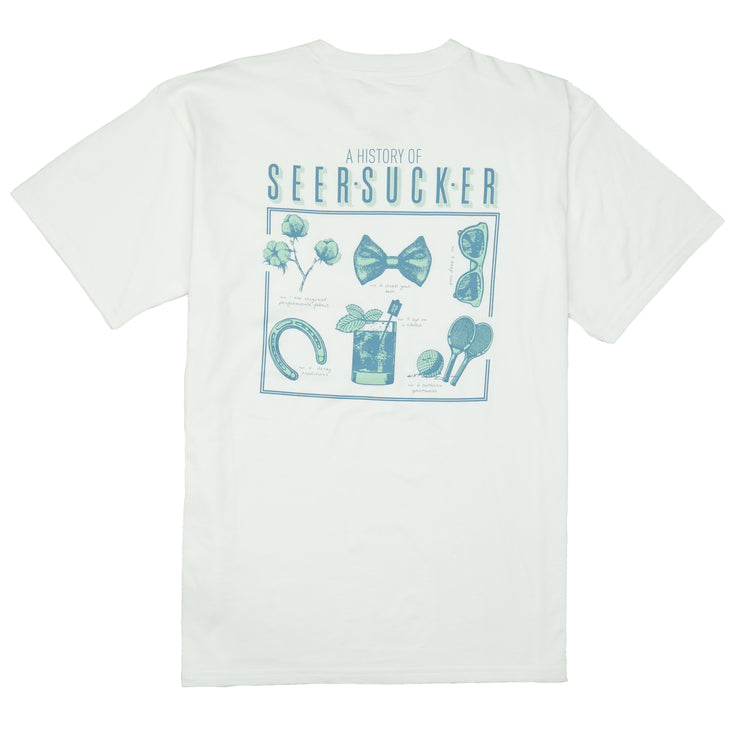 Southern Proper - History of Seersucker Tee: White
