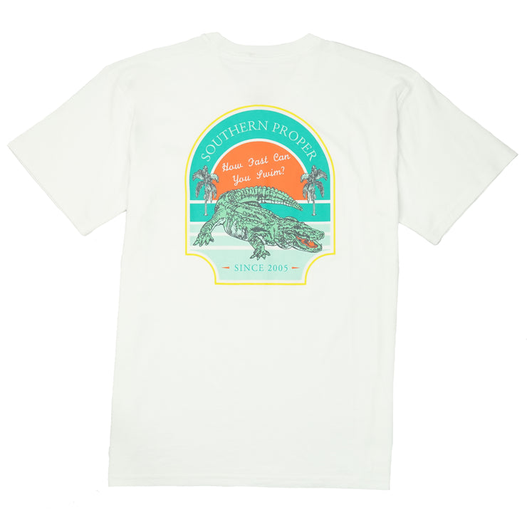 Southern Proper - How Fast Tee: White