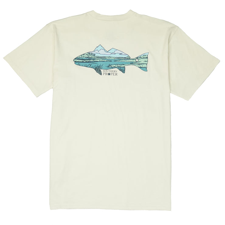 Southern Proper - Marsh Fish Tee: Papyrus