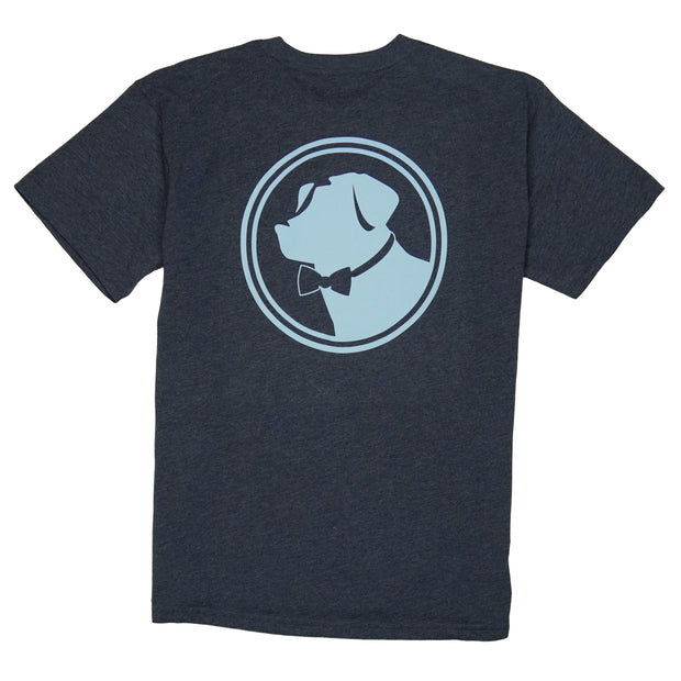 Southern Proper - Original Logo Tee: Heather Patriot Blue