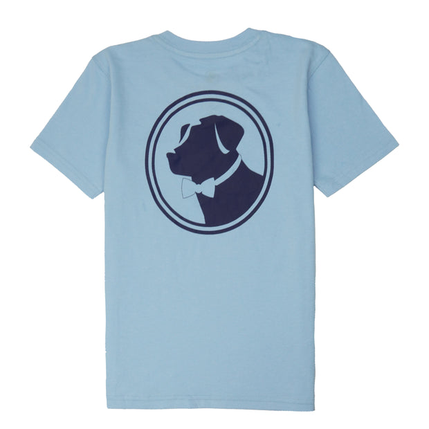 Southern Proper - Boys - Original Logo Tee: Porch Blue