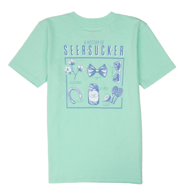 Southern Proper - Boys - History of Seersucker Tee: Brook Green