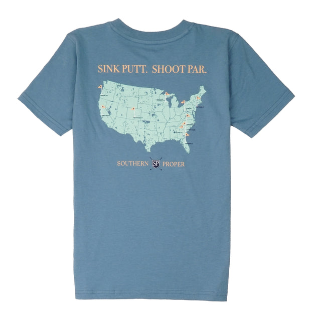Southern Proper - Boys - Sink Putt. Shoot Par. Tee: Blue Shadow