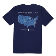 Southern Proper - Boys - Sink Putt. Shoot Par. Tee: Patriot Blue
