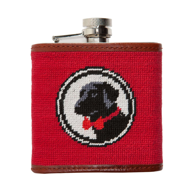 Southern Proper - Logo Needlepoint Flask: Red