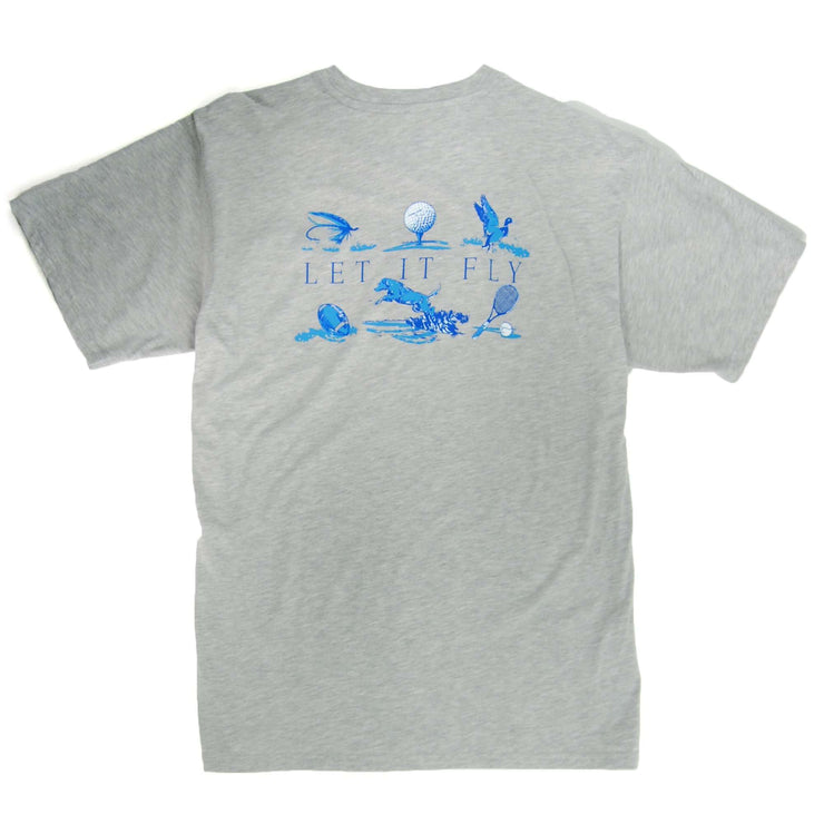 Southern Proper - Let It Fly Tee: Heather Grey