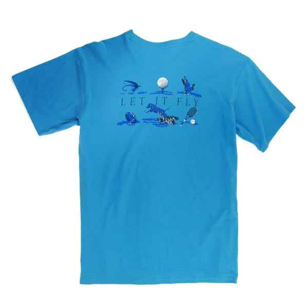 Southern Proper - Let It Fly Tee: May River Blue