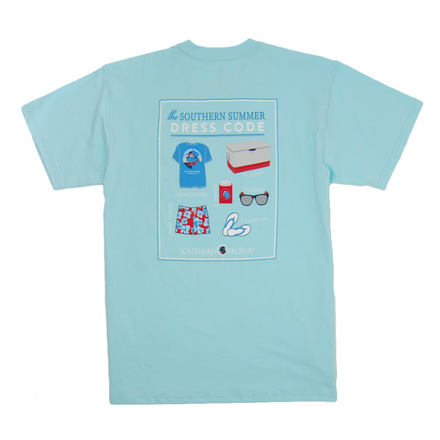 Southern Proper - Summer Dress Code Tee: Low Country Blue