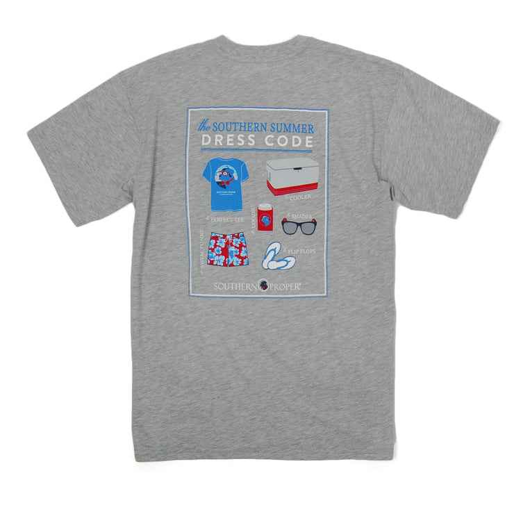 Southern Proper - Summer Dress Code Tee: Heather Grey