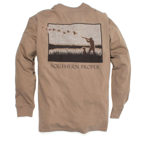 Southern Proper - Hunt Club Tee: Cashew Long Sleeve