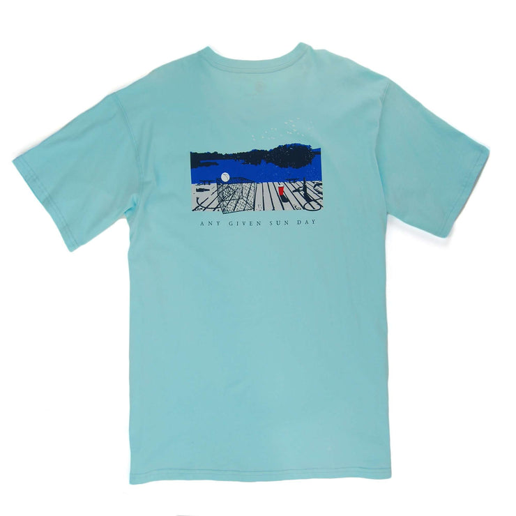 Southern Proper - Any Given Sunday Tee: Low Country Blue